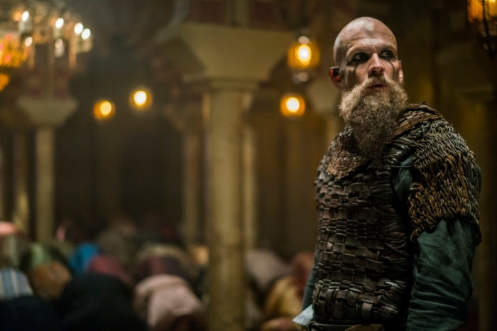 History's 'Vikings,' Season 4, Part 2, Episode 16, Crossing, Floki inside the Muslim temple