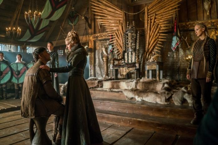 History's 'Vikings,' Season 4, Part 2, Episode 16, Crossing, Lagertha looks down at Ivar