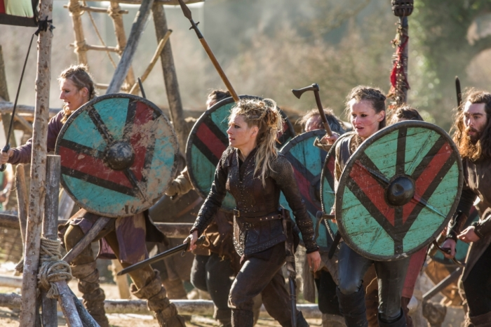 History's 'Vikings,' Season 4, Part 2, Episode 19, On The Eve, Lagertha and her shield maidens