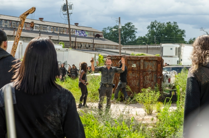 AMC's 'The Walking Dead,' Season 7, Episode 9, Rick's group is surrounded