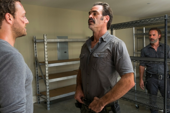 AMC's 'The Walking Dead,' Season 7, Episode 9, Simon and Aaron at Alexandria