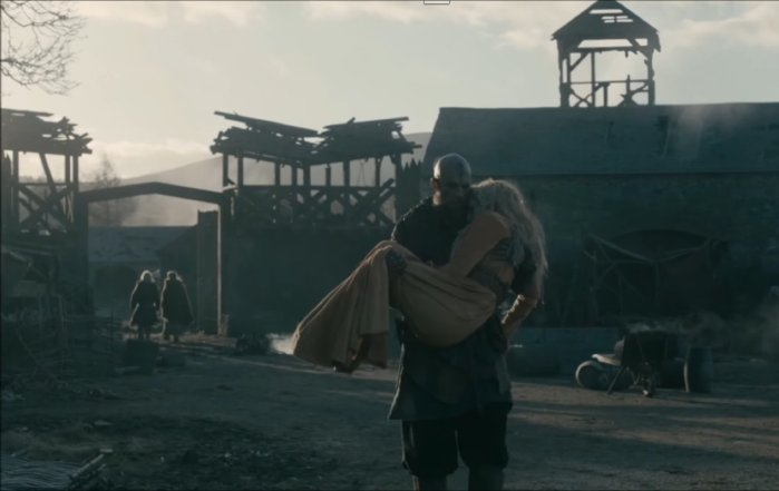 History's 'Vikings,' Season 4, Part 2, finale, Episode 20, The Reckoning, Floki carries Helga