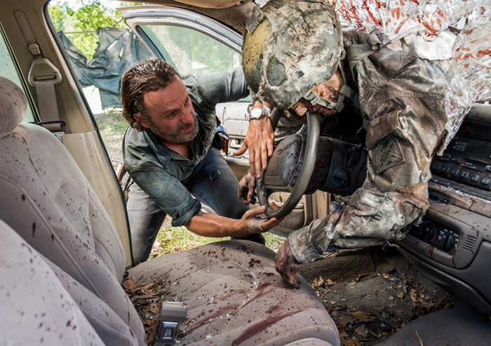 AMC's 'The Walking Dead,' Season 7, Episode 12, Say Yes, Rick finds a car