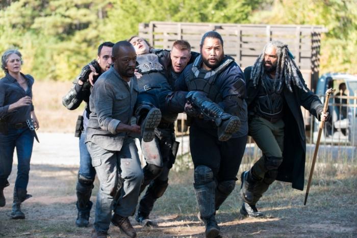 AMC's 'The Walking Dead,' Season 7, Episode 13, Bury Me Here, Benjamin is taken to Carol's house