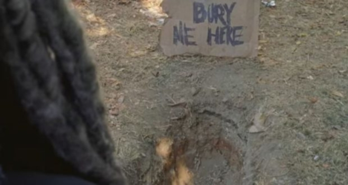 AMC's 'The Walking Dead,' Season 7, Episode 13, Bury Me Here, grave