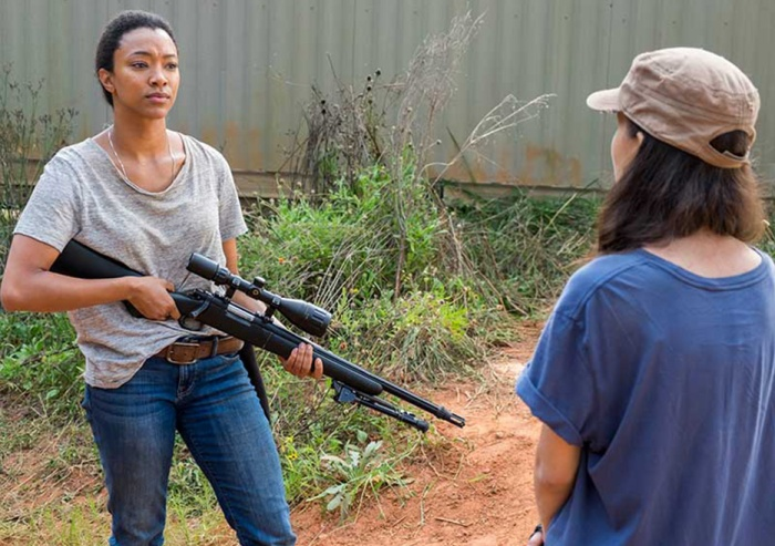 AMC's 'The Walking Dead,' Season 7, Episode 14, The Other Side, Sasha and Rosita