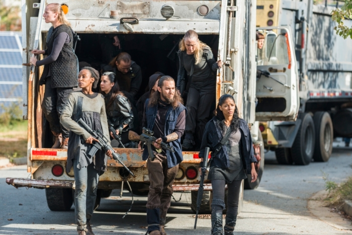 AMC's 'The Walking Dead,' Season 7 finale, Episode 16, Jadis' group arrives at Alexandria