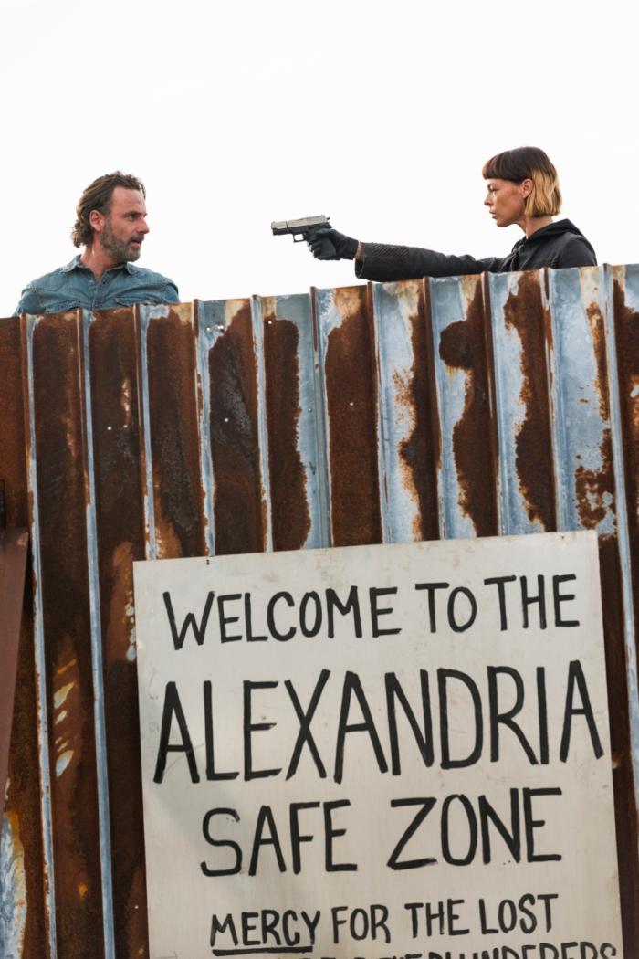 AMC's 'The Walking Dead,' Season 7 finale, Episode 16, Jadis takes Rick hostage