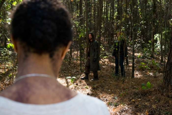 AMC's 'The Walking Dead,' Season 7 finale, Episode 16, Walker Sasha, Jesus and Maggie